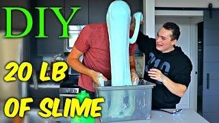 getlinkyoutube.com-20 LB of Slime - DIY Giant Slime