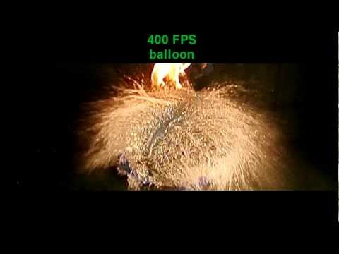 Nikon Slow motion Water balloon Explosion with torch