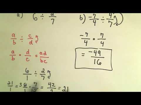 Basic Math:  Dividing Fractions
