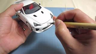 getlinkyoutube.com-【車のプラモデル製作】 タミヤ レクサスLFA  tamiya Lexus LFA  part finished