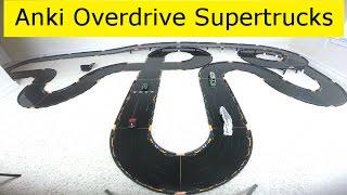 getlinkyoutube.com-Anki Overdrive Supertrucks Race Time: Thermo vs Freewheel vs Nuke vs X-52 Ice
