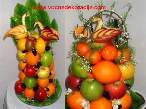 Dekoracije od voca, aranzmani, dekoracija za svadbe, vencanja.wmv