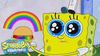 """Can SpongeBob's """"Rainbowger"""" Survive Plankton's Color Nullifier?   SpongeBob SquarePants   Nick"""