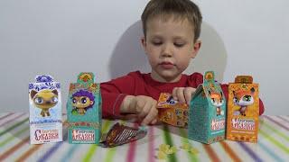getlinkyoutube.com-Лисичкины сказки коробочки с сюрпризом игрушкой распаковка Blind box with animal toys unboxing