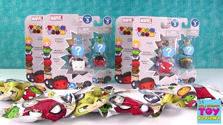 getlinkyoutube.com-Disney Marvel Tsum Tsum Series 3 Packs Blind Bag Opening Toy Review | PSToyReviews