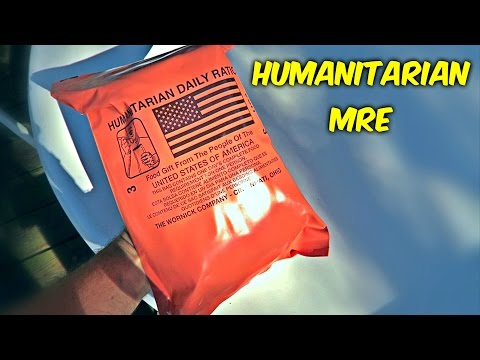 Testing Humanitarian MRE (Meal Ready to Eat)