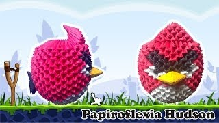 getlinkyoutube.com-Origami 3D Angry Birds (Rojo)