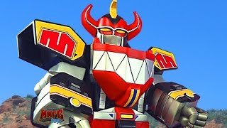getlinkyoutube.com-Power Rangers GIANT Megazord Daizyuzin Unboxing & Review! (Zyuranger)