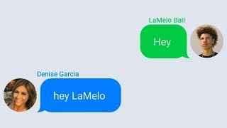 LaMelo Ball Texting Lonzo Ball's Girlfriend (Denise Garcia)