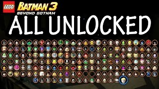getlinkyoutube.com-LEGO: Batman 3 - Beyond Gotham - All Characters Unlocked + DLC Review