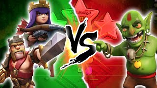 "getlinkyoutube.com-Clash of Clans - ""HEROES VS GOBLINS!"" 3 STAR FARMING NEW MAPS! Overkill Attacks Against Goblin Villa"