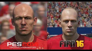 getlinkyoutube.com-FIFA 16 vs PES 2016 Bayern München Player Faces Comparison
