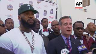 A few hundred attend LA gang summit organized by rapper The Game