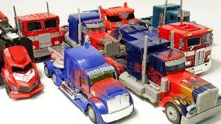 getlinkyoutube.com-Transformers Big Optimus Prime 8 Vehicle Transformation Car Toys 트랜스포머 대형 옵티머스 프라임 자동차 장난감 로봇 변신 동영상