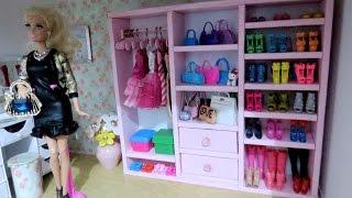 getlinkyoutube.com-Guarda-Roupa Closet para Barbie DIY (papelão e isopor)