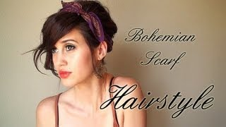getlinkyoutube.com-Creative Hairstyles: Scarf Updo