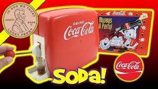 getlinkyoutube.com-Coca Cola Kids Party Dispenser, Coke Glasses & Collectors Tins
