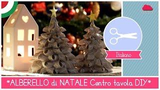 getlinkyoutube.com-Tutorial DIY Natale: Centrotavola Natalizio ALBERELLI di stoffa Bellissimi, FACILI ed ECONOMICI