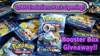 getlinkyoutube.com-1,000 pack opening of XY Evolutions! 6 booster box GIVEAWAY! Free Pokemon! TCG unboxing