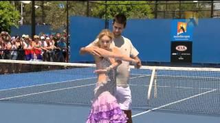getlinkyoutube.com-Dancing With Novak Djokovic   Australian Open 2011