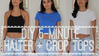 getlinkyoutube.com-DIY 5-Minute Halter + Crop Tops