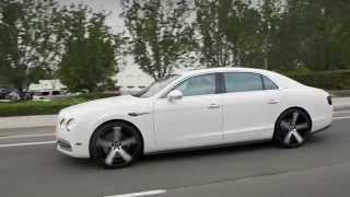 "getlinkyoutube.com-2015 Bentley Flying Spur on 22"" Invictus-Z Machine Face Black Lip Finish Lexani Wheels"