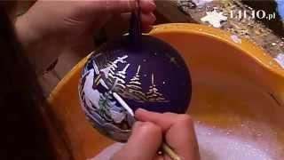 getlinkyoutube.com-Bombki choinkowe - Hand Made Christmas Balls - Kościółek