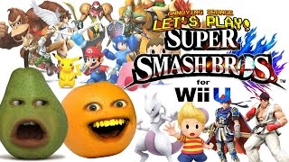 getlinkyoutube.com-Annoying Orange & Pear Play SUPER SMASH BROS: Ryu vs Roy (New Characters!)