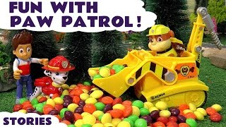 getlinkyoutube.com-Paw Patrol Toys Fun Episodes with Surprise Eggs Skittles & Thomas and Friends Rescues ToyTrains4u