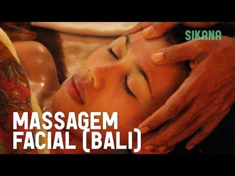 Fazer uma massagem facial com óleo - Bali
