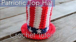 getlinkyoutube.com-HOW TO CROCHET: Patriotic Top Hat Tutorial