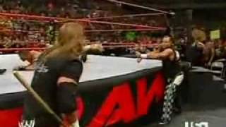 getlinkyoutube.com-John Cena (with Shawn Michaels) vs Mr McMahon (with Triple H) - March 2006 part 2