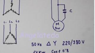 getlinkyoutube.com-Cómo conectar un motor trifásico 220/380V  a 220 V monofásico con condensador.