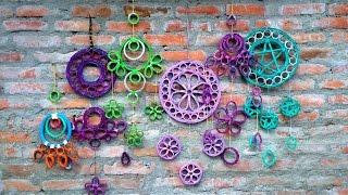 getlinkyoutube.com-DIY Dream Catcher || Recycle Newspaper