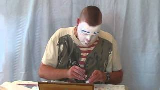 getlinkyoutube.com-Whiteface Clown Makeup Demonstration