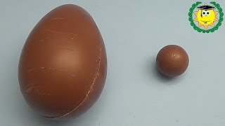 getlinkyoutube.com-Learn Sizes with Surprise Eggs! Which Surprise Egg is Bigger Challenge!