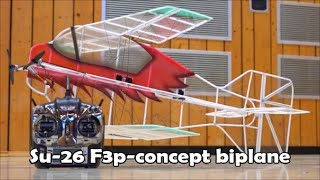 getlinkyoutube.com-Su-26 F3p-Concept Contra-Drive Biplane | Tobi-Style
