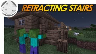 getlinkyoutube.com-Minecraft Redstone: RETRACTING STAIRS! How to Keep Zombies Out of Your House! (Minecraft Redstone)