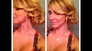 getlinkyoutube.com-Side Bun Updo for Medium Hair or Long Hair