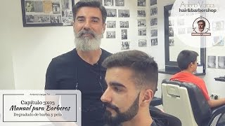 getlinkyoutube.com-Manual para Barberos 3x03 - Degradado de barba y pelo