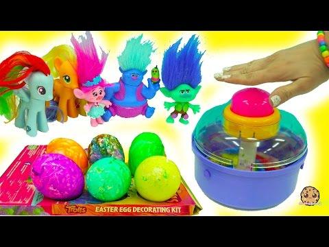 Spin An Egg Does It Work? My Little Pony Twilights Art Class Making Trolls Eggs