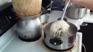 getlinkyoutube.com-How to make Khao Piak, Lao Rice Noodle Soup