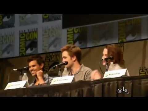 Robert Pattinson, Kristen Stewart & Taylor Lautner intro @ Comic Con 2012