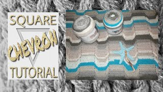 How to crochet a square chevron blanket