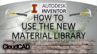 getlinkyoutube.com-How to Material Library, create and add materials | Autodesk Inventor