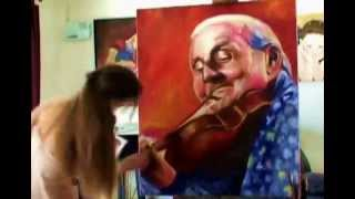 getlinkyoutube.com-GRAPPELLI -Speed Oil Painting Portrait by Stephanie Valentin