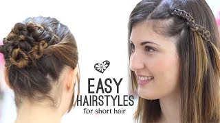 getlinkyoutube.com-EASY HAIRSTYLES SHORT HAIR