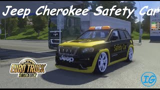 getlinkyoutube.com-Euro Truck Simulator 2 - Jeep Cherokee Safety Car (+Download)