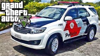 getlinkyoutube.com-GTA V MOD Policia - Carro HILUX da Policia