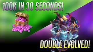 getlinkyoutube.com-Double Evolving DEMOGORGON Rolling 100k Gems in 30 SECONDS Castle Clash